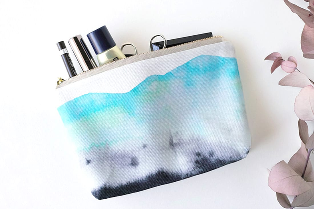 「白山」水彩画
