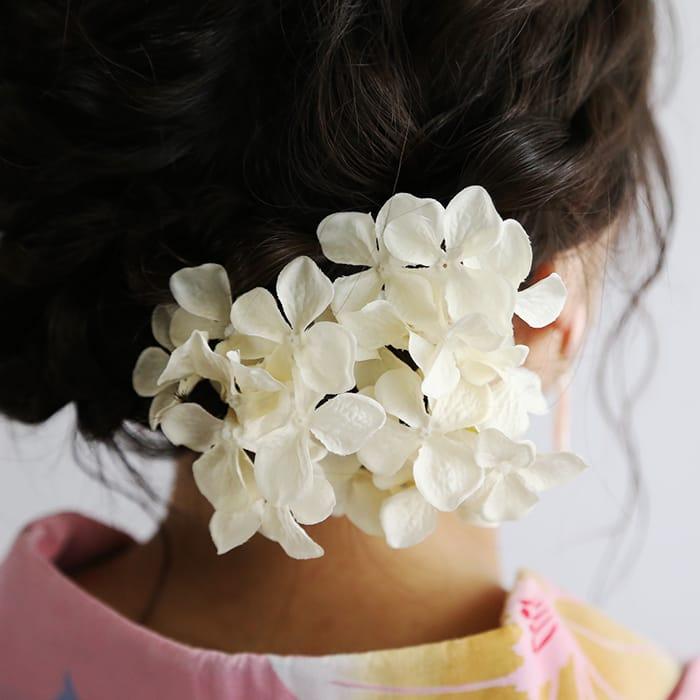 紫陽花のヘッドドレス