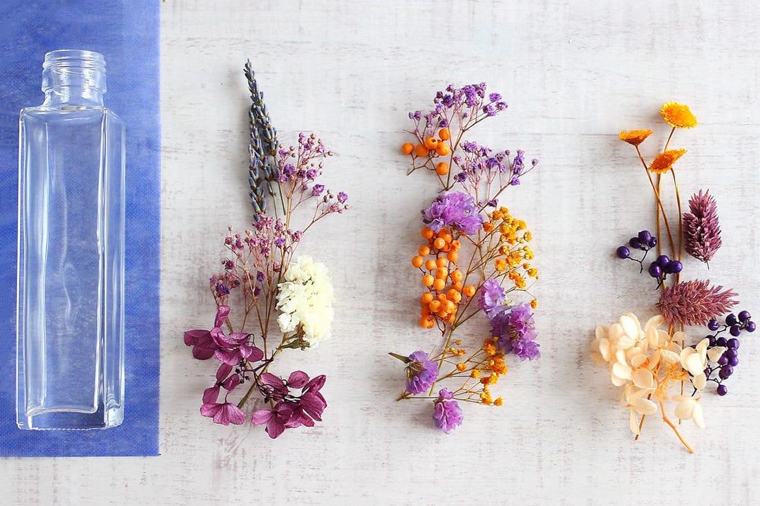 ハロウィンカラーの花材セット