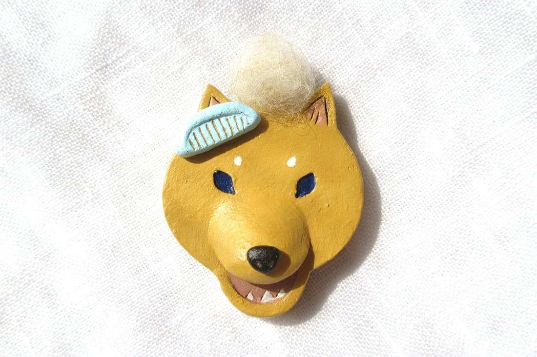 chikoさんの柴犬のブローチ