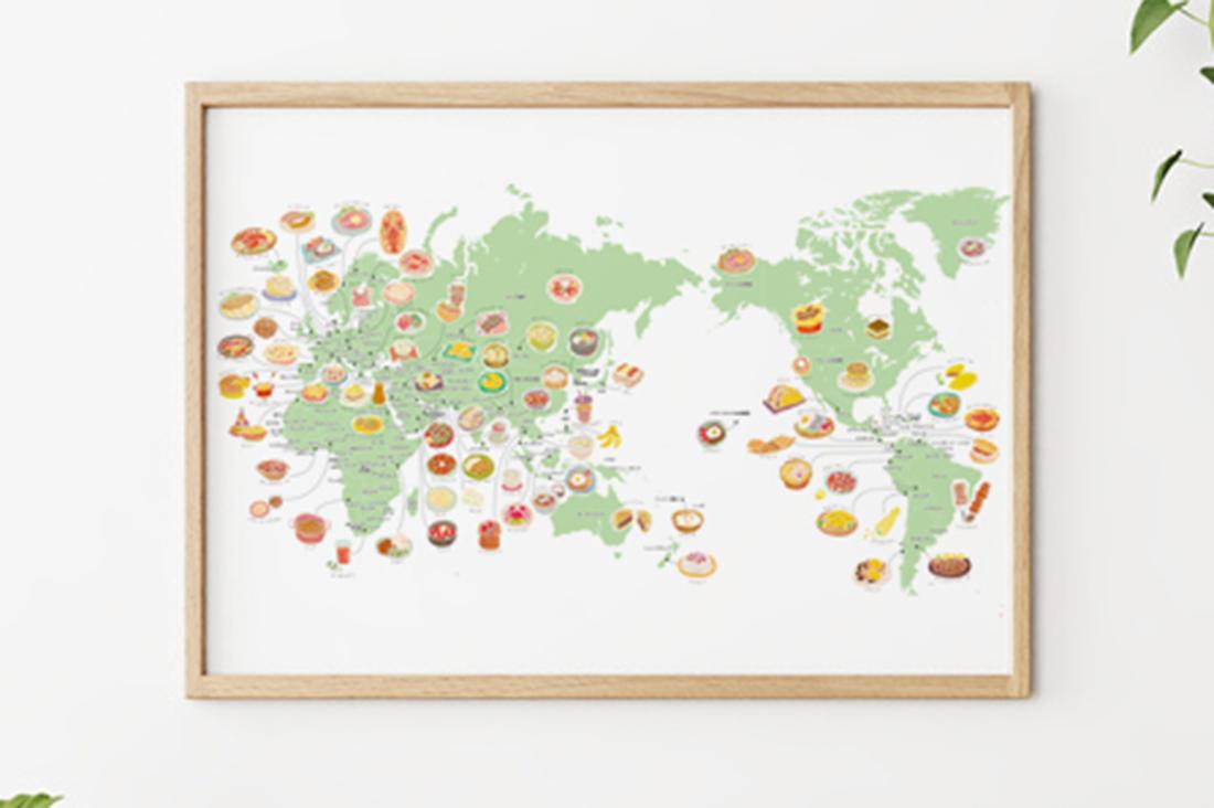nammyさんのくいしんぼうさんの世界地図