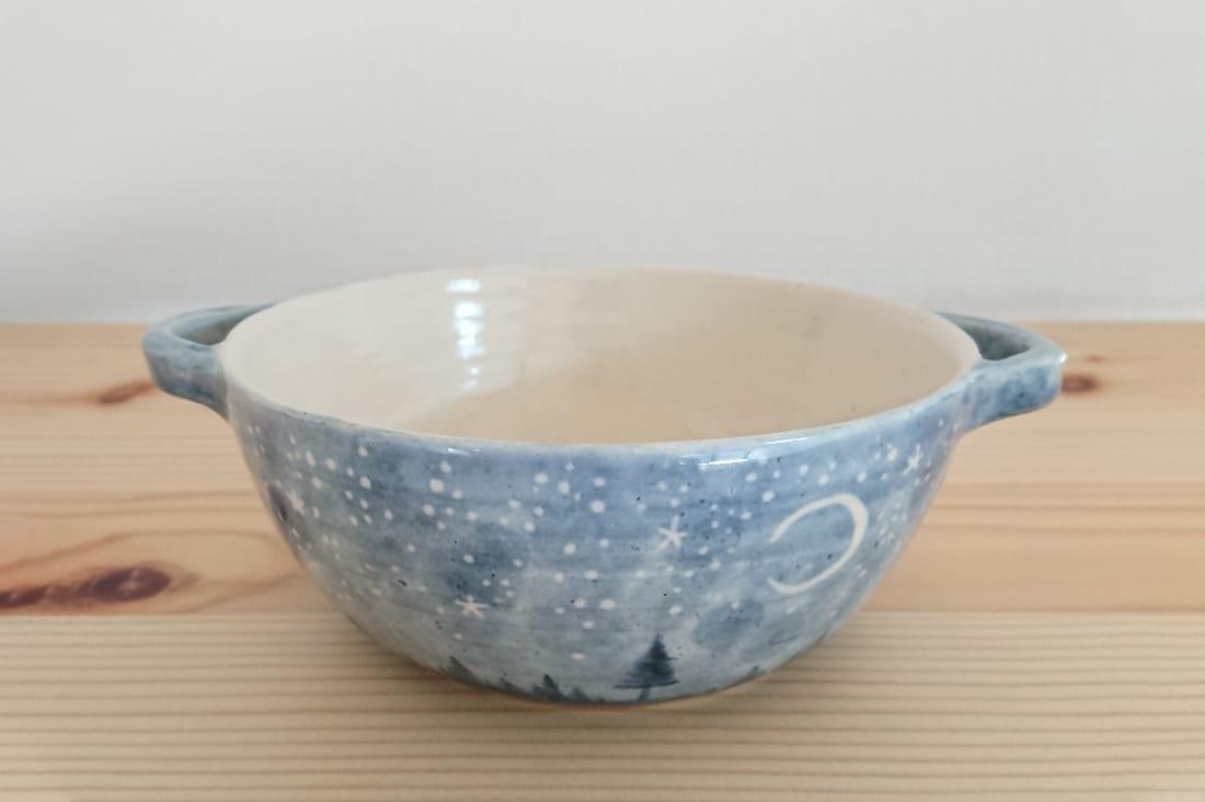 Nagomi-Potteryさんの夜空絵のスープカップ