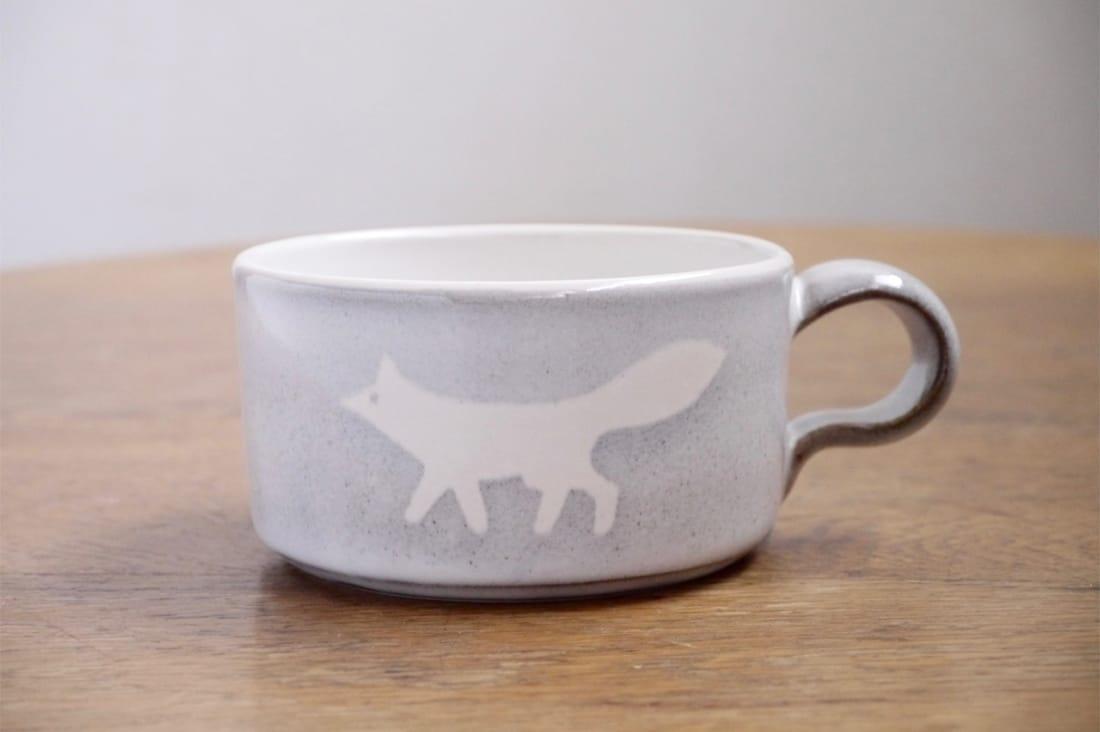 itogapotteryさんのきつねのスープカップ