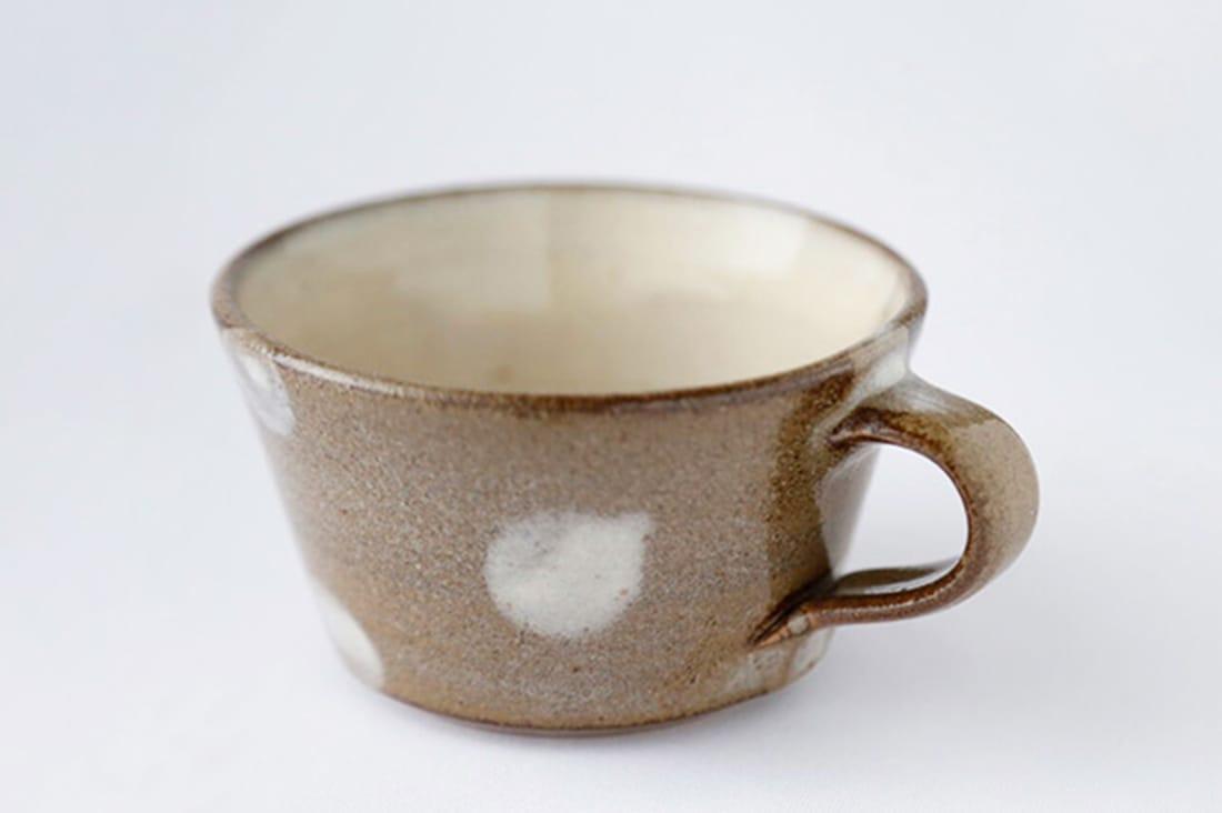 縁器屋さんの水玉スープカップ