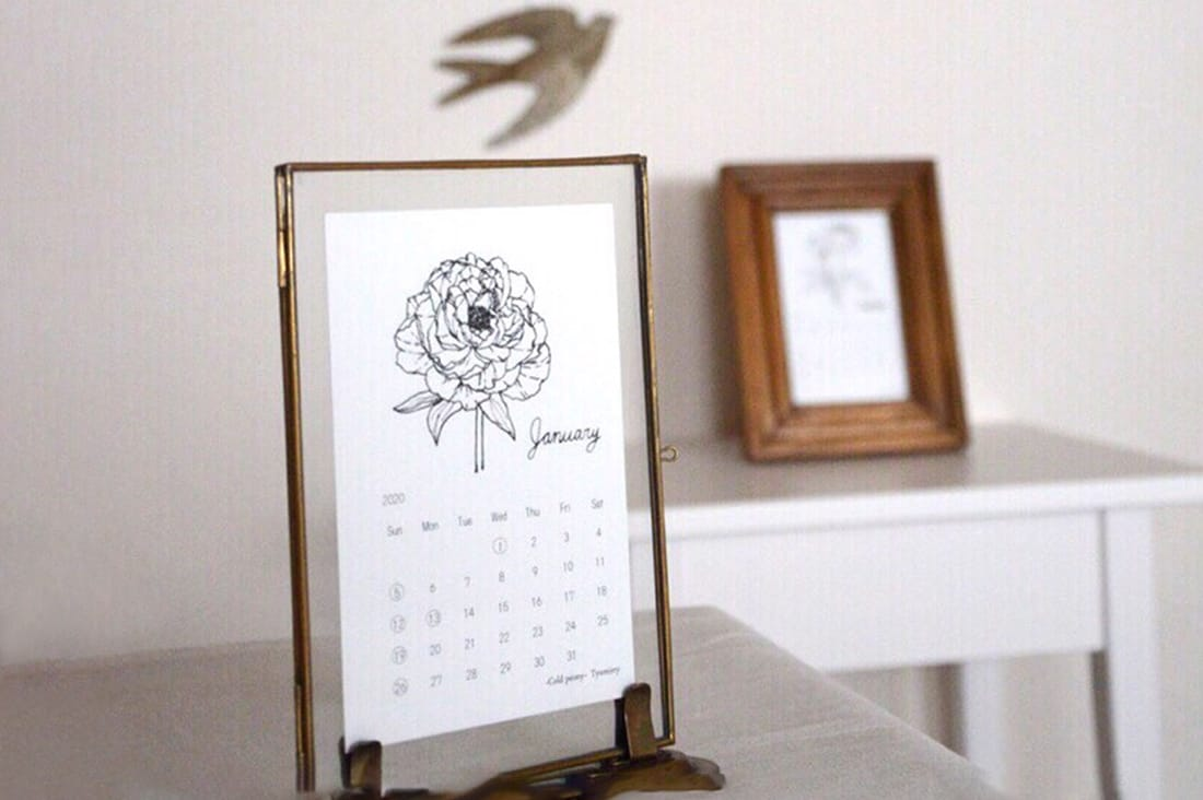 Tyumirryさんの季節の花のカレンダー