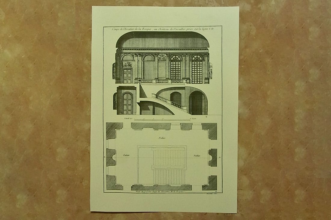 plusvoceさんのベルサイユ宮殿の建築図面
