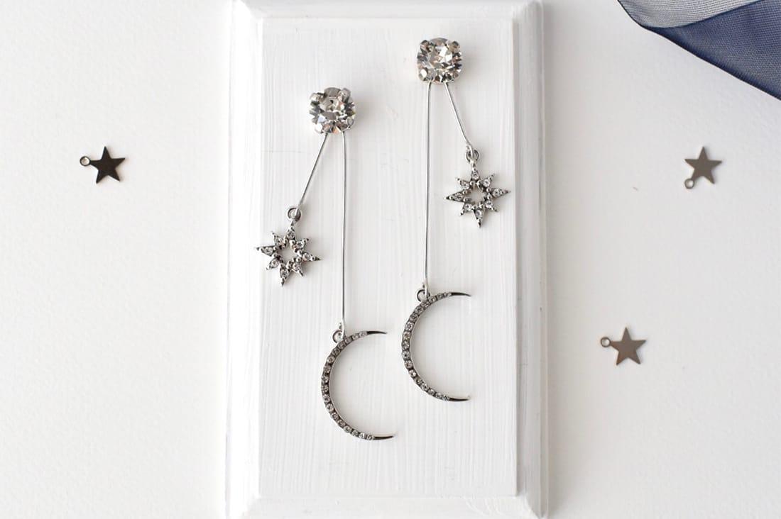 mimiさんの月と星のイヤリング