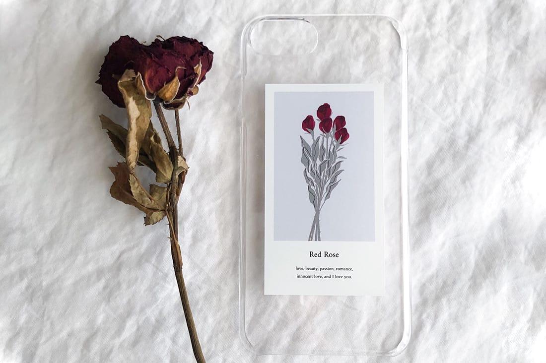 nulさんのバラの花束のスマホケース