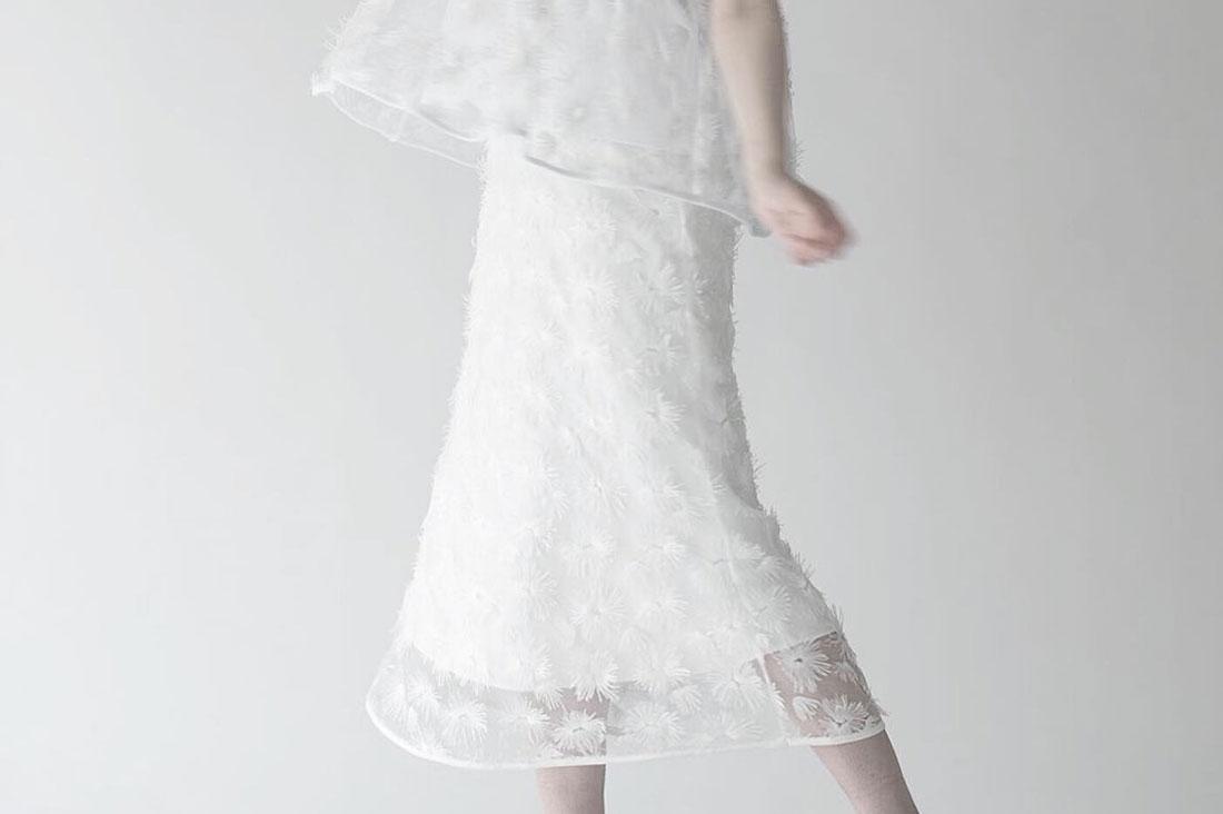 make-aiさんのフリンジチュールスカート