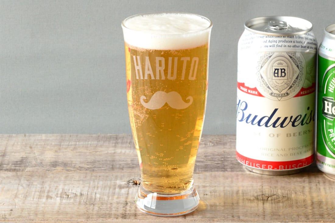 THE LONG ISLANDさんの名入れビールグラス