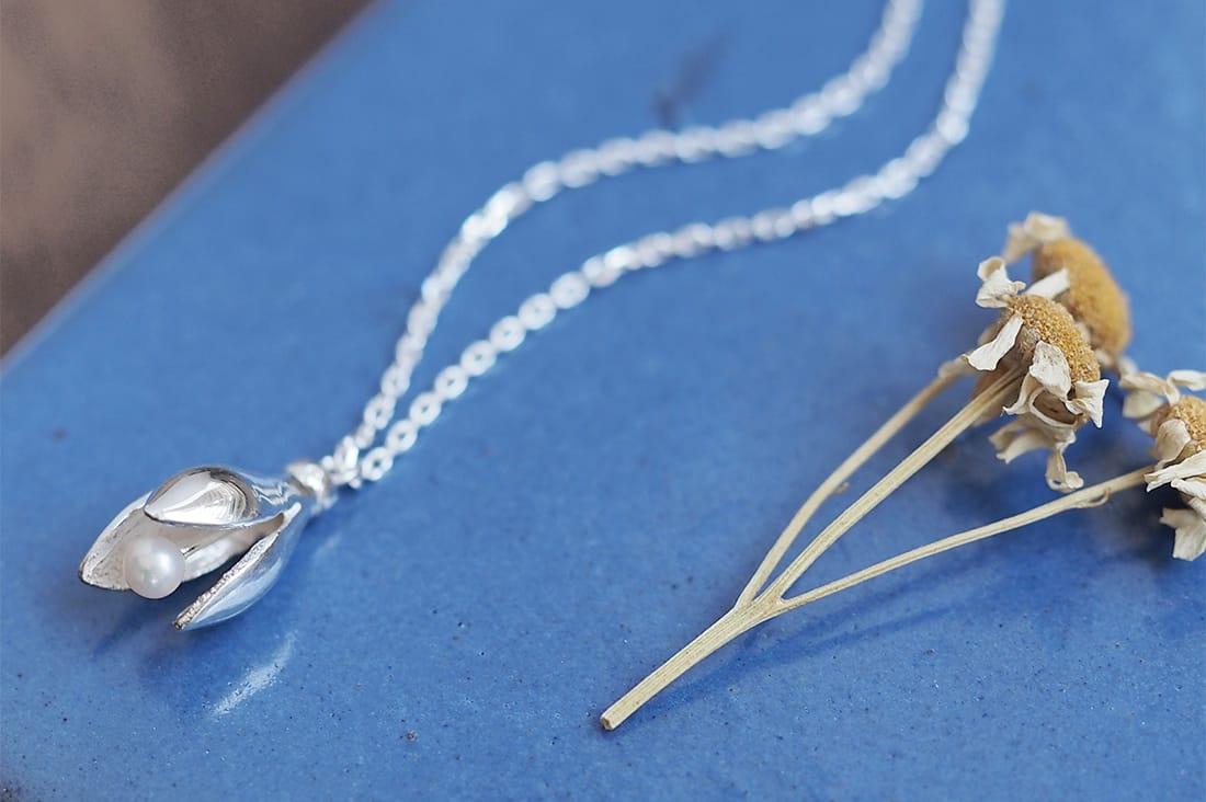 cloud-jewelryさんのドライフラワー ネックレス