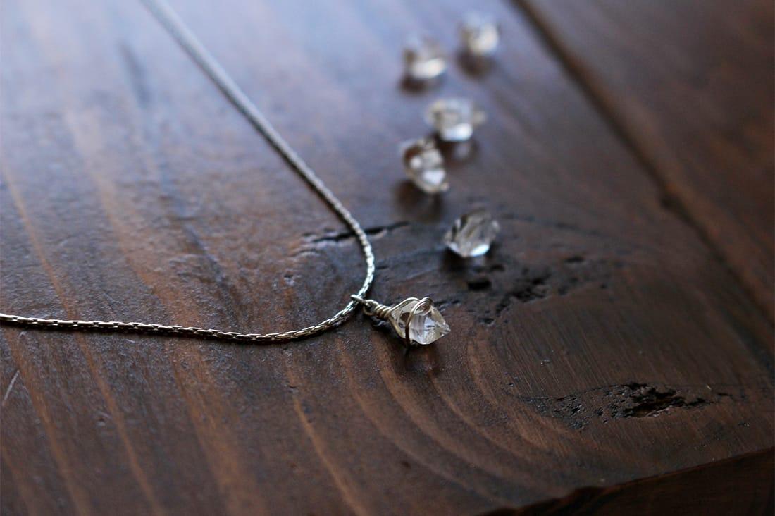 spiceyaさんのハーキマーダイヤモンドのネックレス