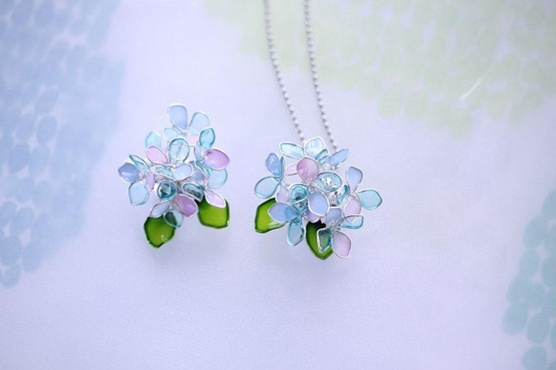 福*咲さんの紫陽花のネックレス