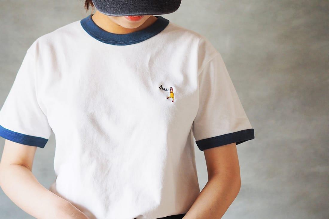 BLUEWHITEリンガーTシャツ