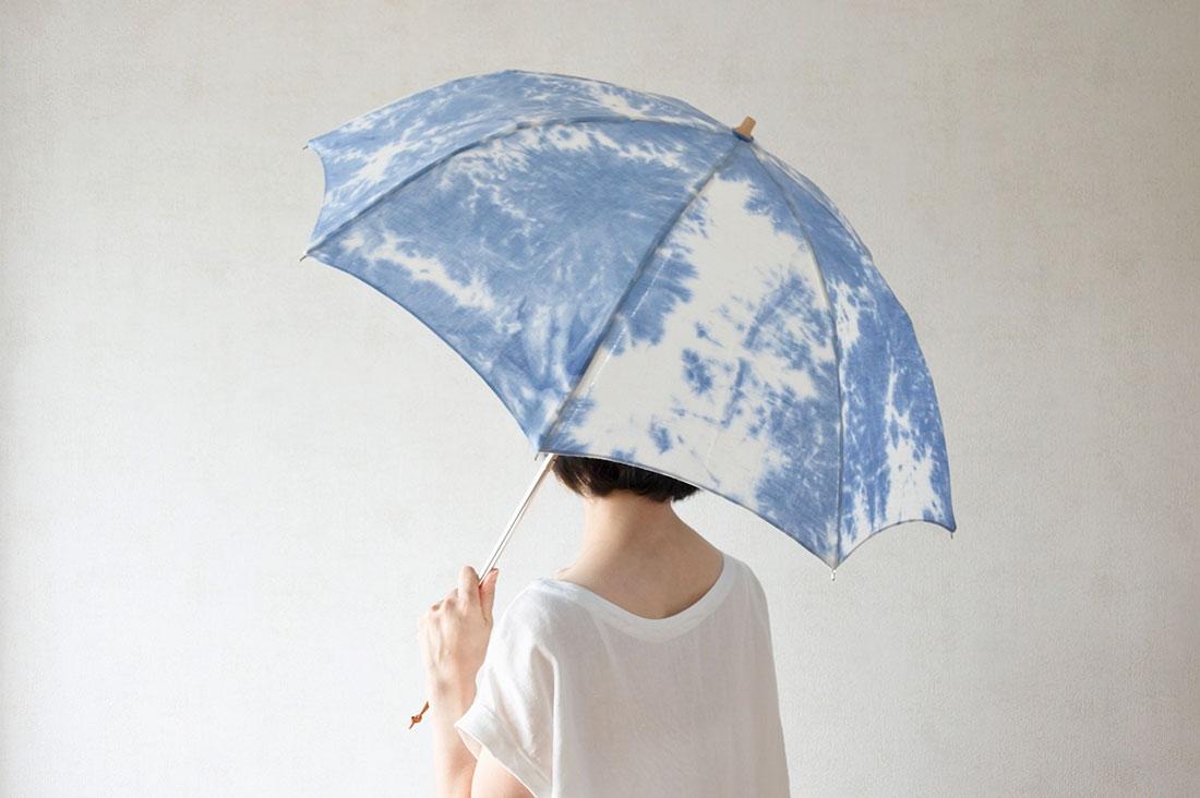 my jewelboxさんのしぼり染めの日傘