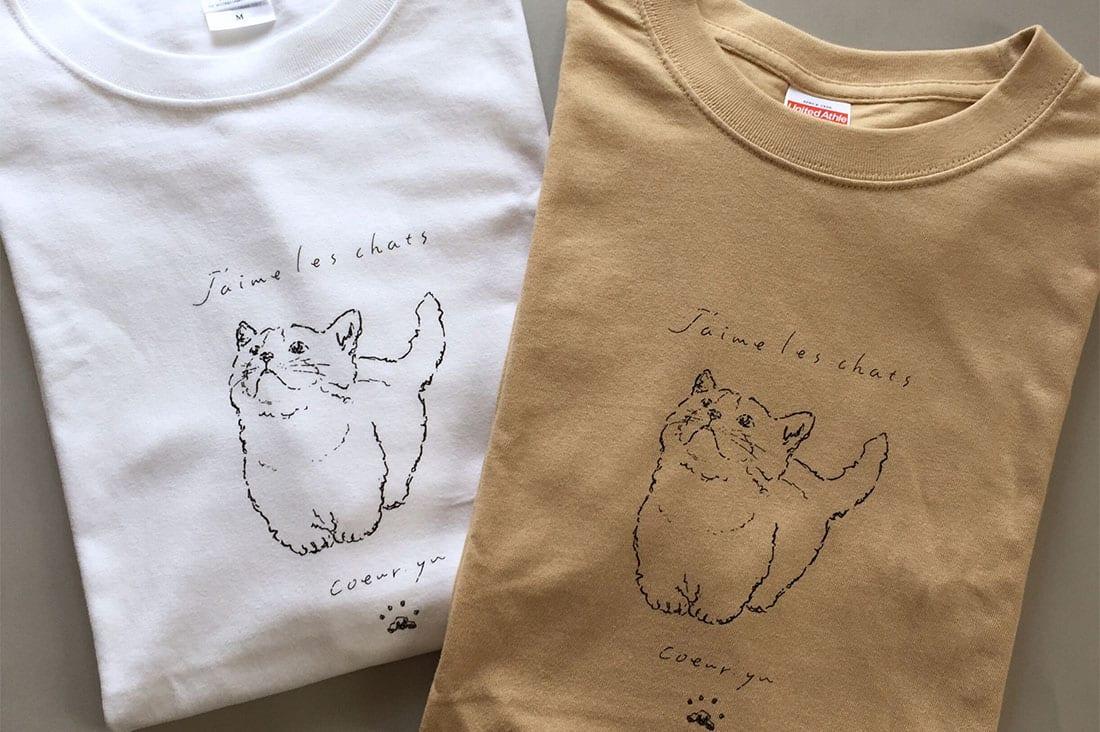 coeur.yu(クードットユー)さんの手描きデザインTシャツ