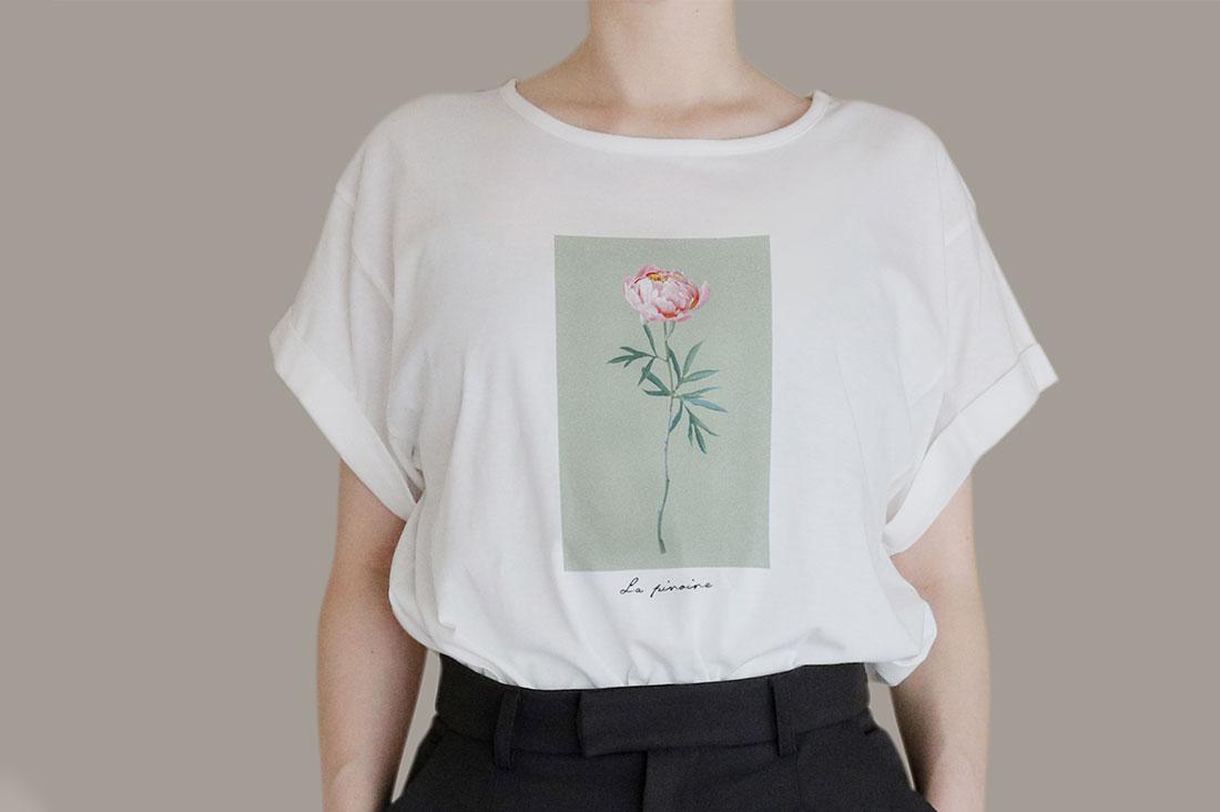 キツネとタヌキさんのロールアップTシャツ