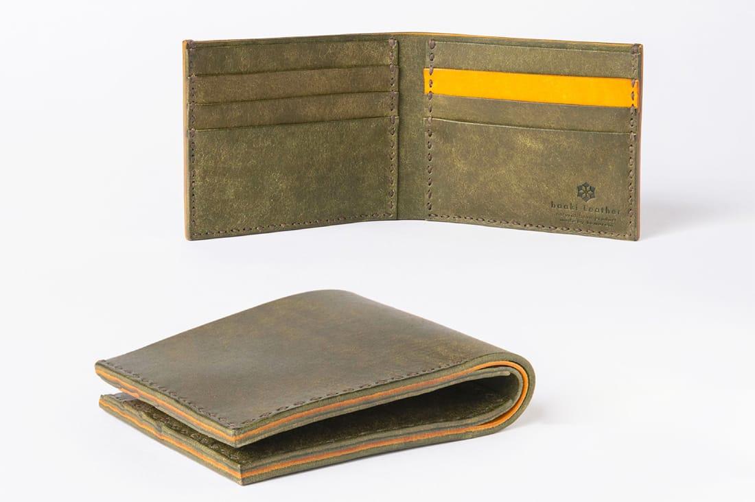 haaki Leatherさんの二つ折り財布