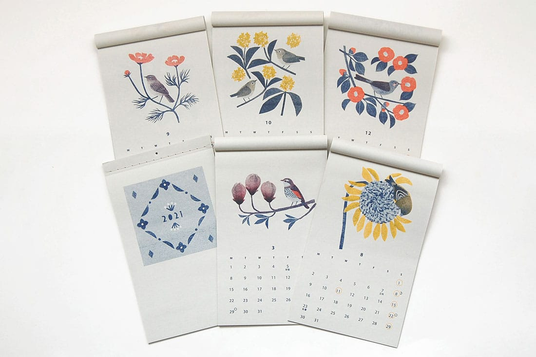 itsukonakaさんの花と鳥のカレンダー