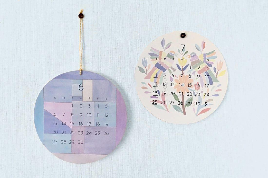 amiiさんの世界の伝統柄のカレンダー