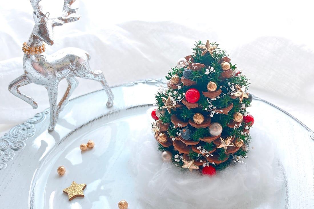 Pluie Flower&Jewelryさんの松ぼっくりの星降るクリスマスツリー
