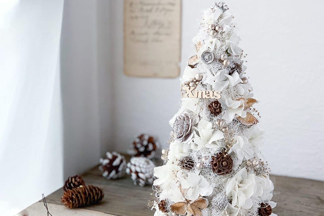 華の人occhiさんの上品なホワイトツリー