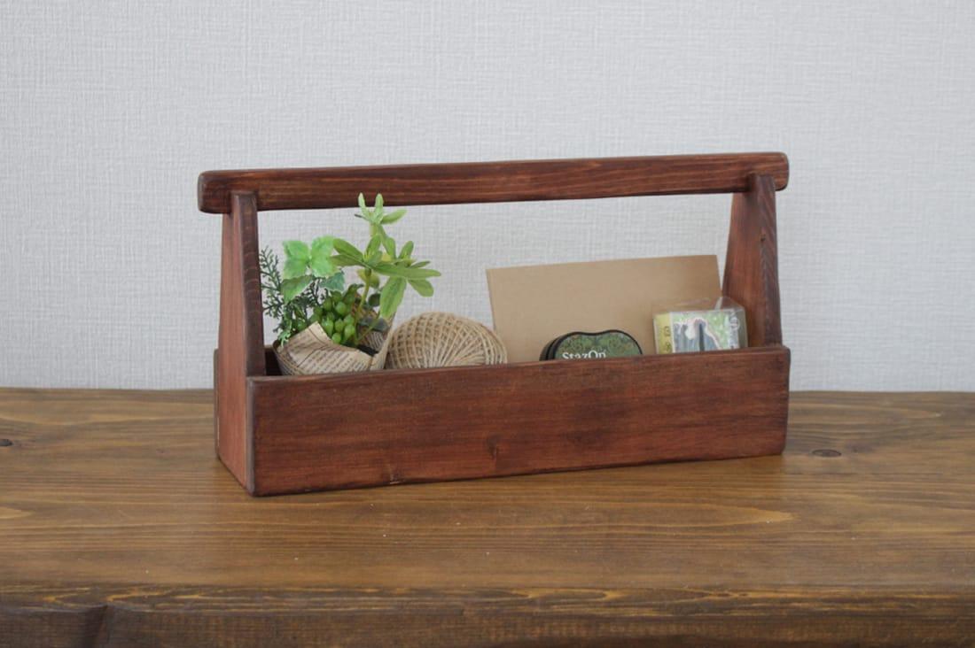 おいで家具さんのスリムな木箱