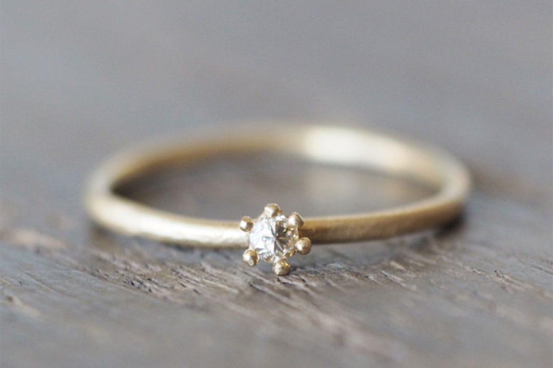 atelier kikikiさんのダイヤモンドのリング