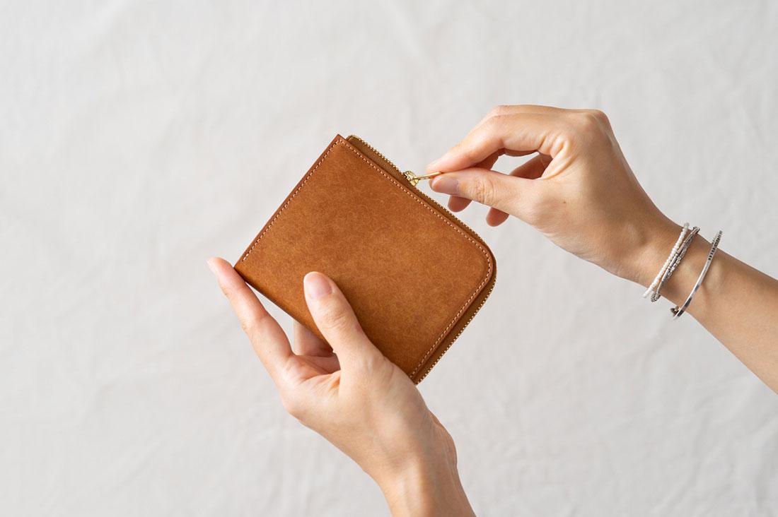 Fukuさんの革の財布