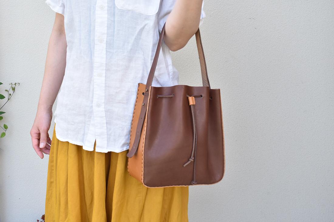 shoeszendaiさんのレザー巾着バッグ 手づくりキット