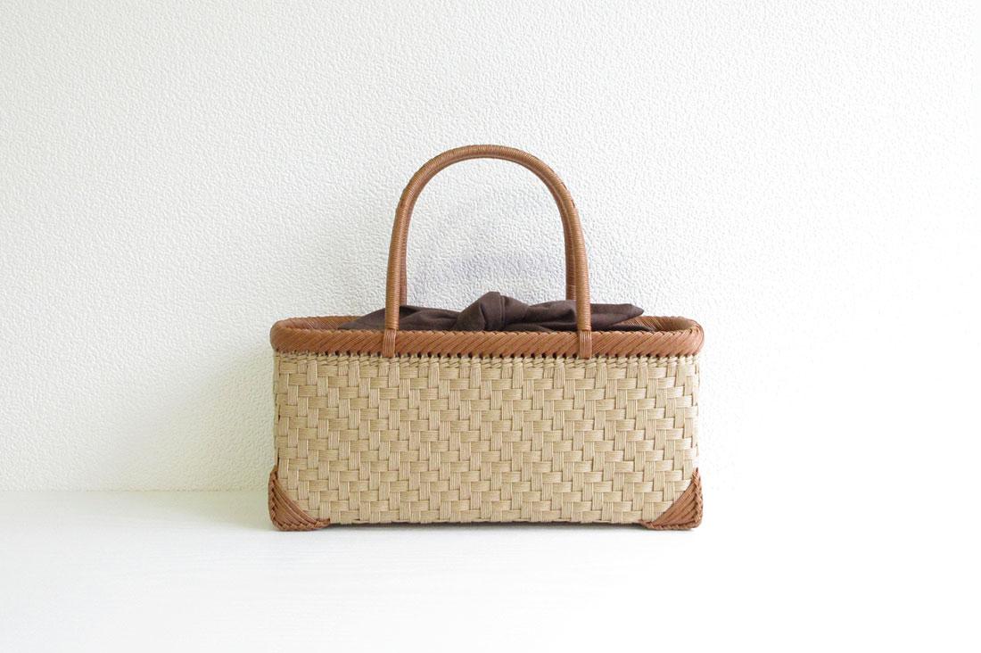 籠工よしむらさんの網代編みのかごバッグ