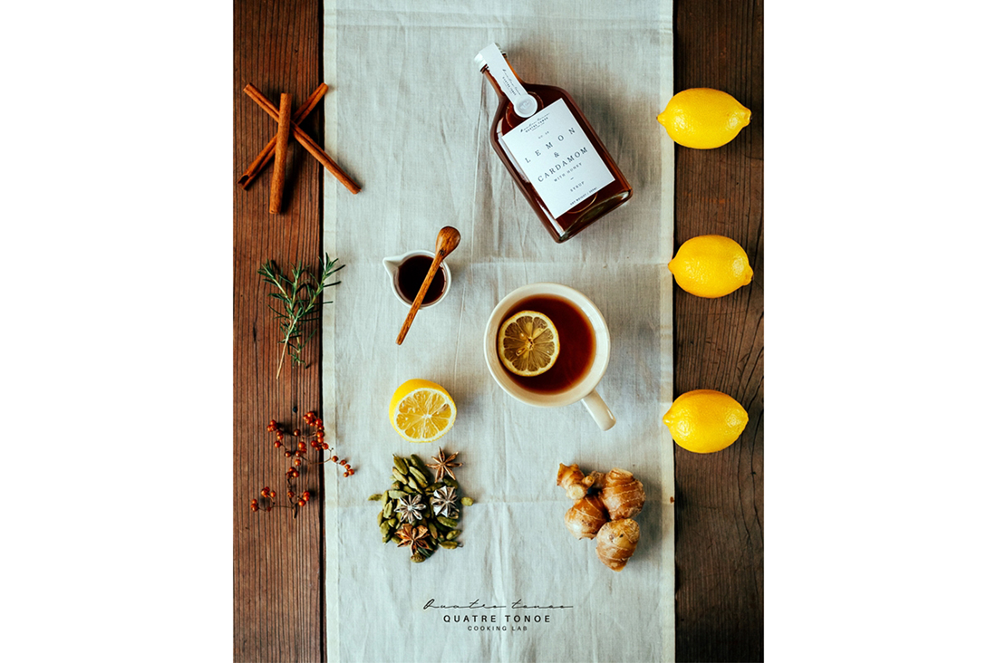 quatre tonoeさんのレモン&カルダモンシロップ