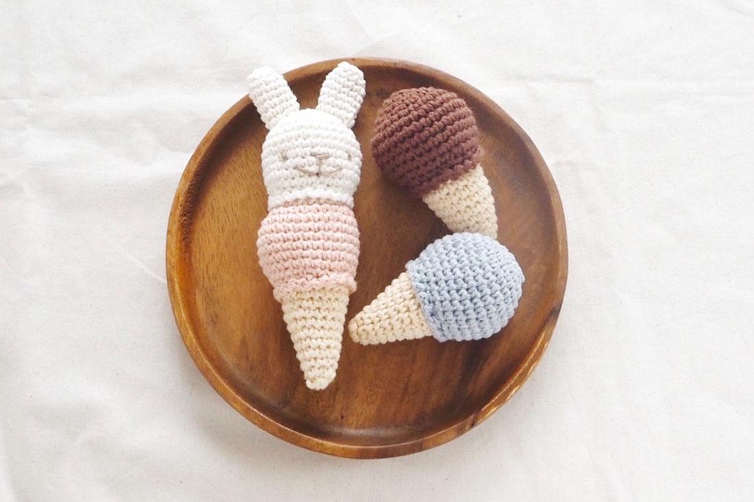kachi kachiさんのうさぎちゃんのアイスクリーム屋さんセット