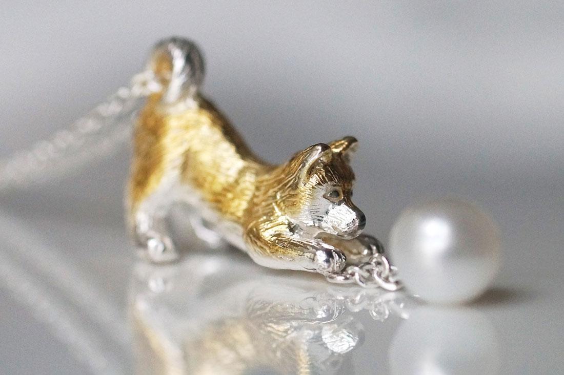 naturamaさんの柴犬ネックレス