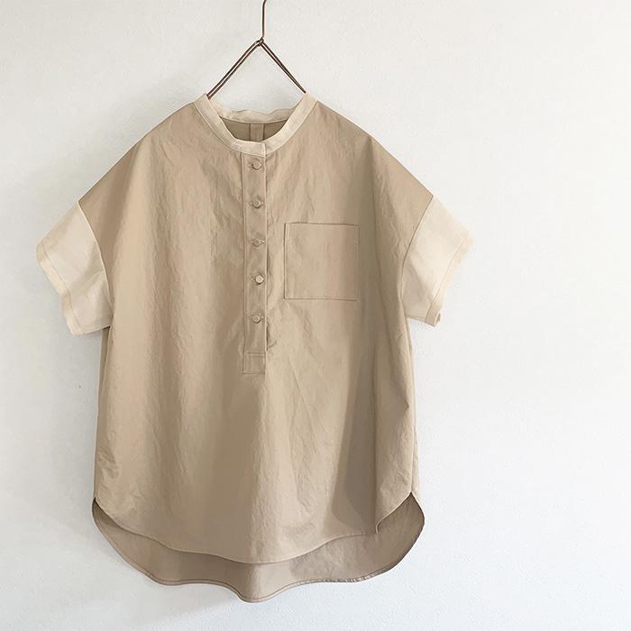 minimatoiさんの透けpointのあるコットンワッシャーシャツ