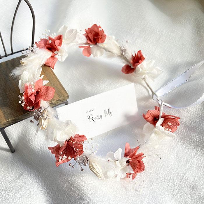 Rosy lilyさんの花冠【ローズホワイト】