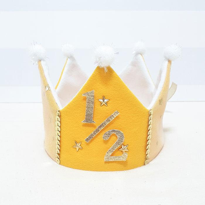 ベビークラウンさんのハーフバースデー用 王冠