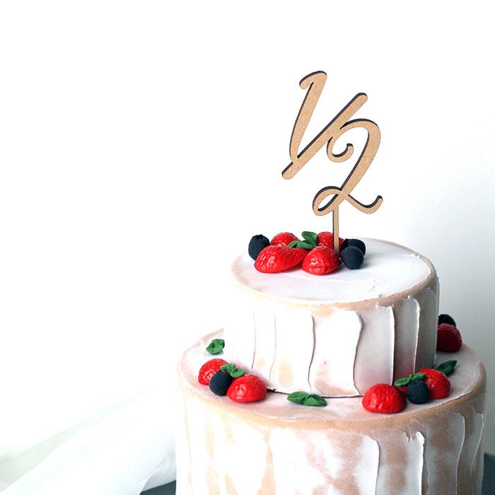 felice◇◆さんの木製 ケーキトッパー