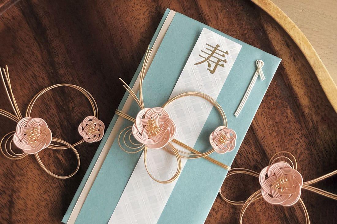 みめよい祝儀袋さんの淡いピンクの梅の花のご祝儀袋