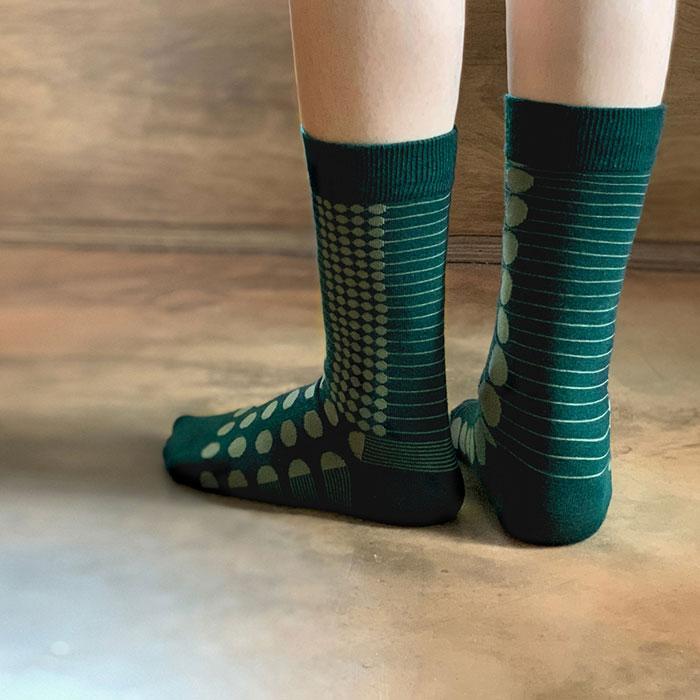 2nd PALETTEさんのディープ_モス靴下