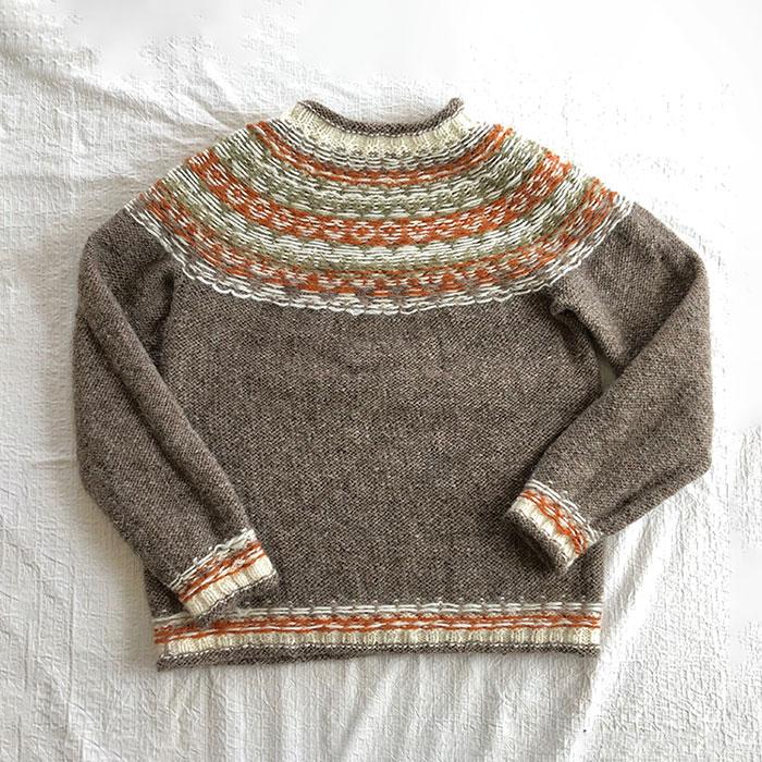 手編みの会さんのアイスランドロピーセーター