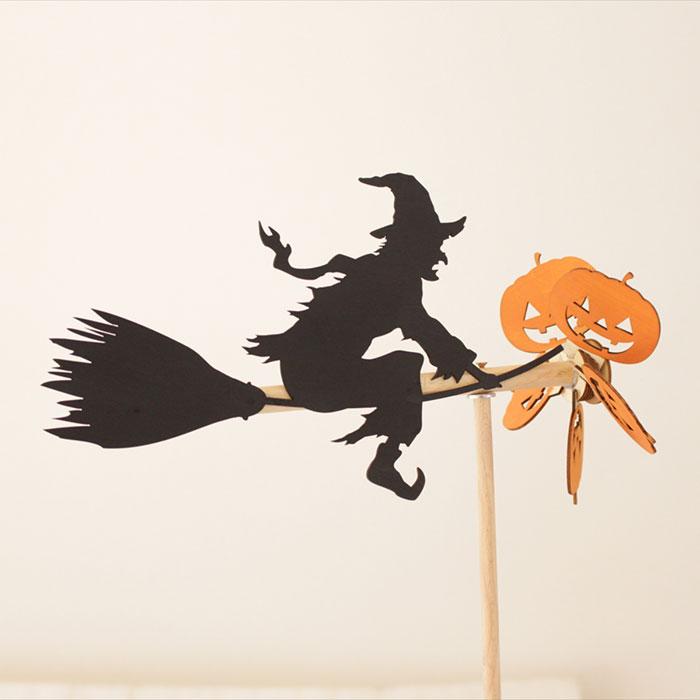 木工房からんさんの年老いた魔女の風向計 ハロウィン
