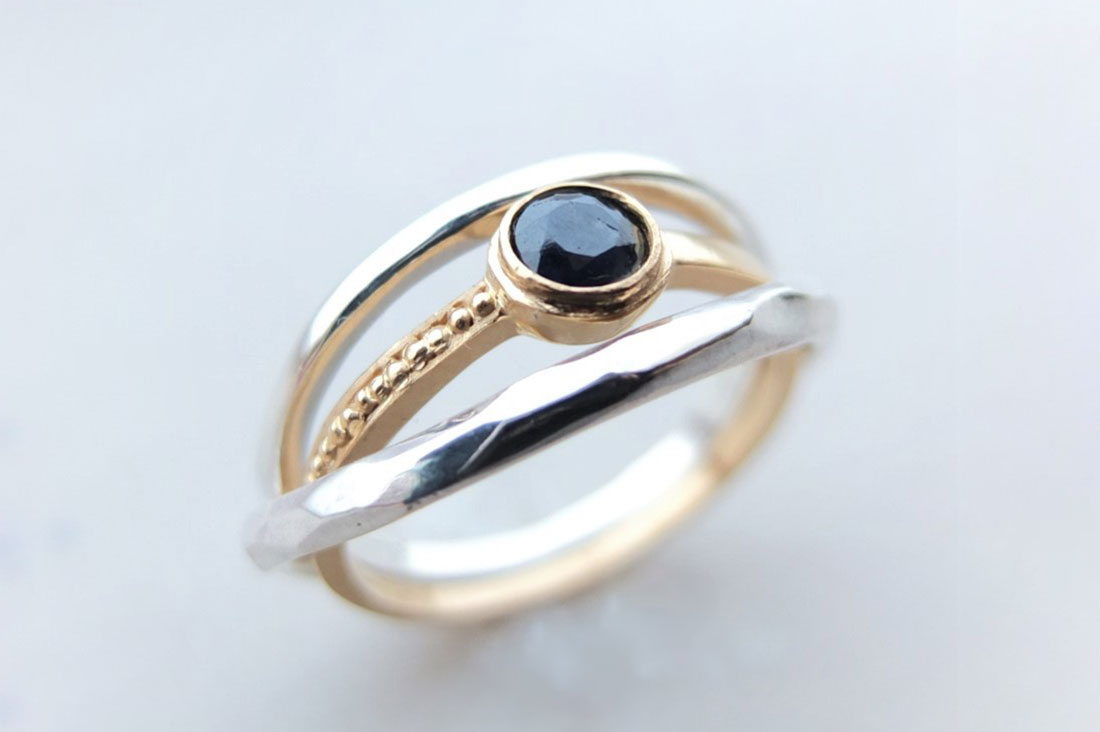 ei-esprime le ideeさんのSilver Mix stack ring