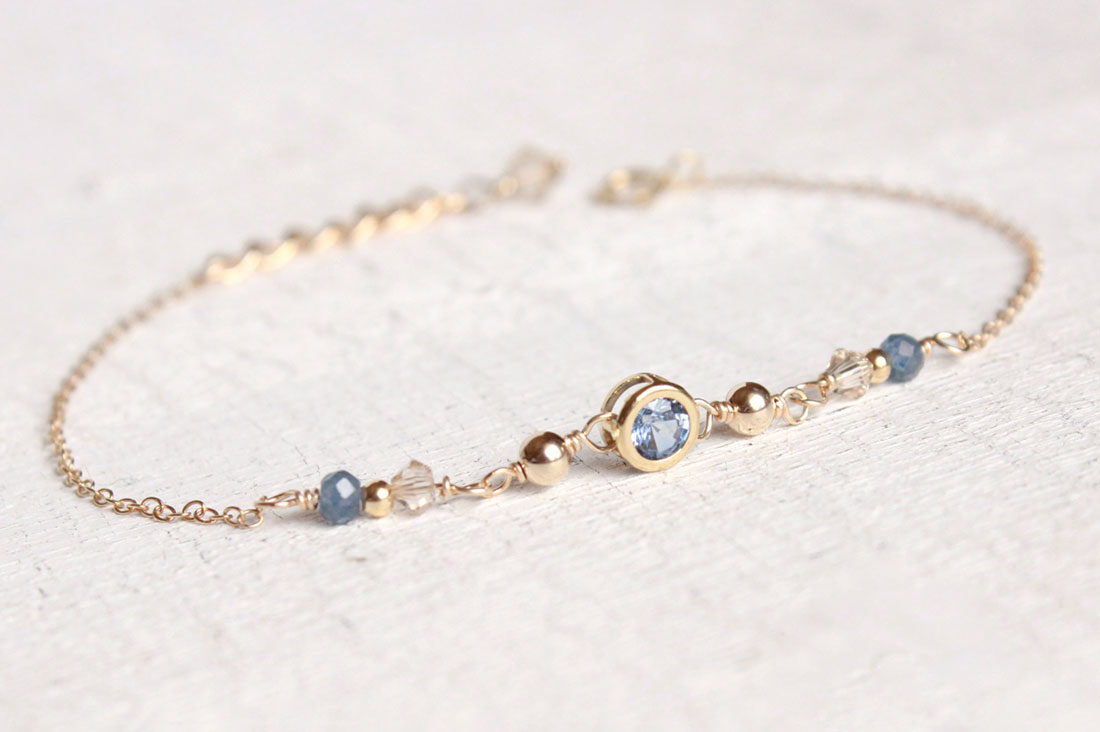 Urim,ThummimさんのCandy charm 14KGF Bracelet