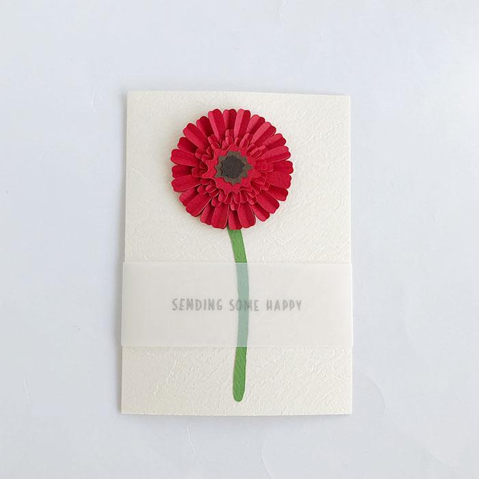 Paper Villageさんのガーベラのメッセージカード