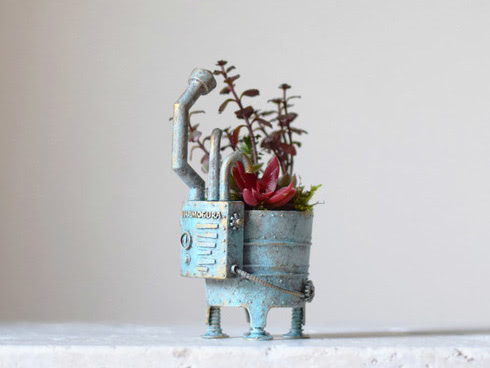 care pot(bath) antique light blue