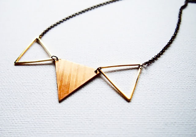 Cymbal's flag necklace(無地)
