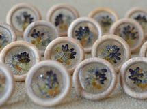 wood earring(lavender)