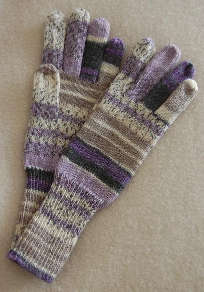 手編み5本指手袋 No.8 【再販】