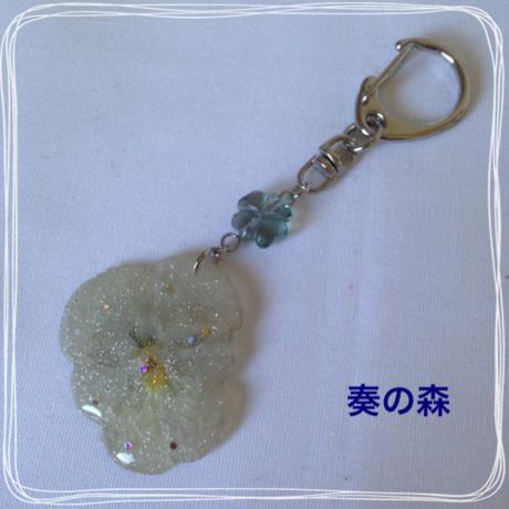 クリアランスセール★15-1013 押花レジンのキーホルダー